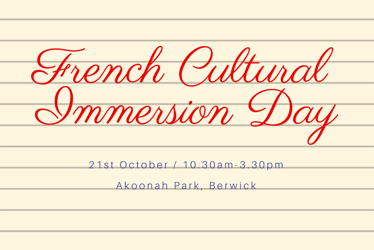 French Cultural Immersion Day - French event in Berwick